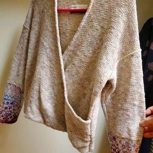 Anthropologie Pilcro Drew Surplice Sweater